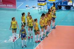 Volleyball WGP : Brazil VS USA Stock Photography