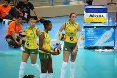 Volleyball WGP : Brazil VS USA Royalty Free Stock Photos