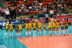 Volleyball WGP : Brazil VS USA Royalty Free Stock Photography