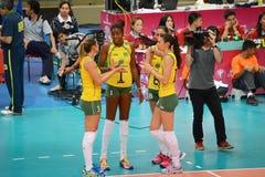 Volleyball WGP : Brazil VS USA Stock Image