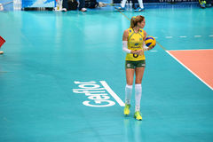 Volleyball WGP : Brazil VS USA. Thaisa Menezes, Brazil team at Volleyball world grand prix 2014, PRELIMINARY ROUND Pools Composition - POOL A-I (August 1-24 Royalty Free Stock Images