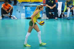Volleyball WGP : Brazil VS USA. Thaisa Menezes, Brazil team at Volleyball world grand prix 2014, PRELIMINARY ROUND Pools Composition - POOL A-I (August 1-24 Stock Photography