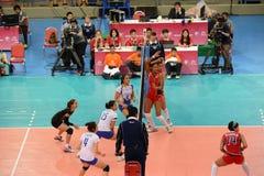 Volleyball WGP : Dominicain CONTRE la Thaïlande Photo stock