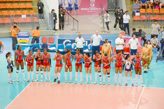 Volleyball WGP. Dominican Republic Team at Volleyball world grand prix 2014, PRELIMINARY ROUND Pools Composition - POOL A-I (August 1-24, 2014 Royalty Free Stock Photos