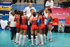 Volleyball WGP. Dominican Republic Team at Volleyball world grand prix 2014, PRELIMINARY ROUND Pools Composition - POOL A-I (August 1-24, 2014 Stock Photo