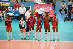 Volleyball WGP. Dominican Republic Team at Volleyball world grand prix 2014, PRELIMINARY ROUND Pools Composition - POOL A-I (August 1-24, 2014 Stock Images