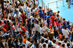 Volleyball WGP : Dominican VS Thailand. Cheering team at Volleyball world grand prix 2014, PRELIMINARY ROUND Pools Composition - POOL A-I (August 1-24, 2014 Royalty Free Stock Photos