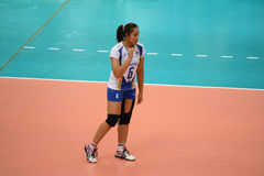 Volleyball WGP : Dominican VS Thailand. Onuma Sittirak, thai team at Volleyball world grand prix 2014, PRELIMINARY ROUND Pools Composition - POOL A-I (August 1 Stock Photography