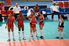 Volleyball WGP : Dominican VS Thailand Royalty Free Stock Photography