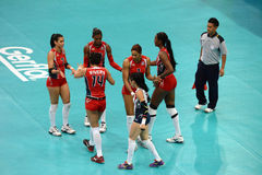 Volleyball WGP : Dominican VS Thailand Royalty Free Stock Photo