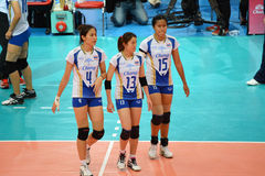 Volleyball WGP : Dominican VS Thailand Stock Images