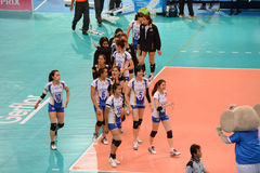 Volleyball WGP : Dominican VS Thailand Royalty Free Stock Images