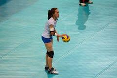 Volleyball WGP: Dominikaner GEGEN Thailand Lizenzfreie Stockbilder