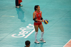 Volleyball WGP. Niverka Dharlenis Marte Frica, Dominican Republic Player at Volleyball world grand prix 2014, PRELIMINARY ROUND Pools Composition - POOL A-I ( Royalty Free Stock Photos