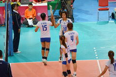 Volleyball WGP. Swap player, Thai Team at Volleyball world grand prix 2014, PRELIMINARY ROUND Pools Composition - POOL A-I (August 1-24, 2014 Stock Photo