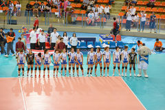Volleyball WGP. Thai Team at Volleyball world grand prix 2014, PRELIMINARY ROUND Pools Composition - POOL A-I (August 1-24, 2014 Stock Image