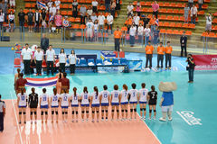Volleyball WGP. Thai Team at Volleyball world grand prix 2014, PRELIMINARY ROUND Pools Composition - POOL A-I (August 1-24, 2014 Royalty Free Stock Images