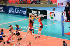 Volleyball WGP : USA VS Thai Royalty Free Stock Photography