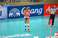 Volleyball WGP : USA VS Thai. Foluke Akinradewo, USA Team at Volleyball world grand prix 2014, PRELIMINARY ROUND Pools Composition - POOL A-I (August 1-24, 2014) Stock Photos