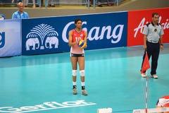 Volleyball WGP : USA VS Thai Stock Photos