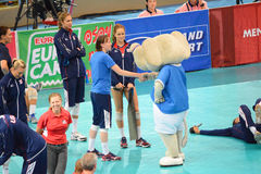 Volleyball WGP : USA VS Thai Royalty Free Stock Images