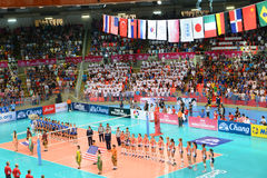 Volleyball WGP : USA VS Thai Stock Photo