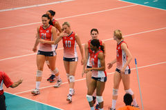 Volleyball WGP : USA VS Thai Royalty Free Stock Image