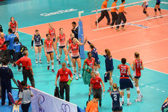 Volleyball WGP : USA VS Thai Royalty Free Stock Photos