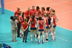 Volleyball WGP : USA VS Thai Stock Image