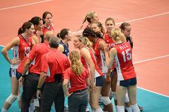 Volleyball WGP : USA VS Thai Royalty Free Stock Photo