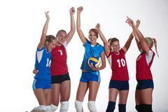 Volleyball  woman group Royalty Free Stock Image