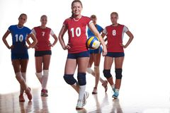 Volleyball  woman group Royalty Free Stock Photo