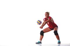 Volleyball woman jump Stock Photography