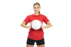 Volleyball woman Royalty Free Stock Images