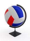 Volleyball is world. Volleyball ball - terrestrial globe. Isolated Stock Photo