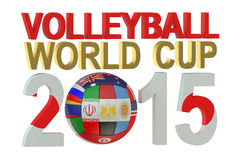 Volleyball World Cup 2015 Japan concept. Isolated on white background Stock Photography