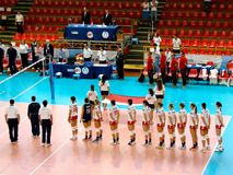 Volleyball World Grand Prix: Poland Stock Photography