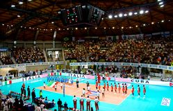Volleyball World League: Italy vs Cuba royalty free stock photography