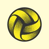 Volleyball yellow symbol royalty free stock photography