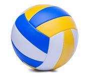Volleyballbal op een wit wordt geïsoleerd dat Royalty-vrije Stock Afbeelding