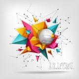 Volleyballball-Hintergrundtext Stockfoto