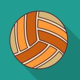 Volleyballballfarbflache Ikonen-Vektorillustration Lizenzfreie Stockbilder