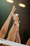 Volleyballblock stockfotografie
