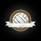 Volleyballembleem Royalty-vrije Stock Foto's