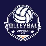 Volleyballembleem, het embleem van Amerika Stock Fotografie