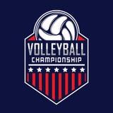 Volleyballembleem, het embleem van Amerika royalty-vrije illustratie