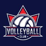 Volleyballembleem, het embleem van Amerika Stock Afbeeldingen