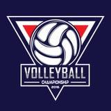 Volleyballembleem, het embleem van Amerika Stock Afbeelding