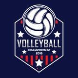 Volleyballembleem, het embleem van Amerika Stock Foto