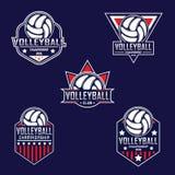 Volleyballembleem, het embleem van Amerika Stock Foto's